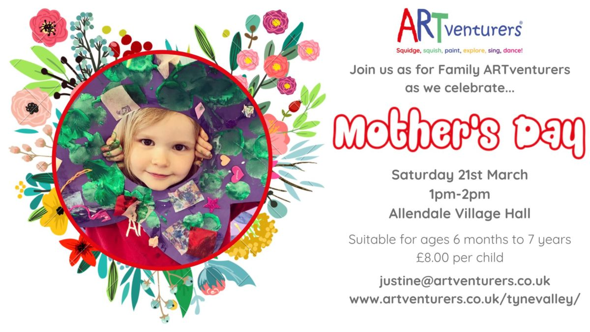 Cancelled - ARTventurers Mothers Day @ New Hall