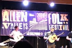Damian O'Kane on the stage