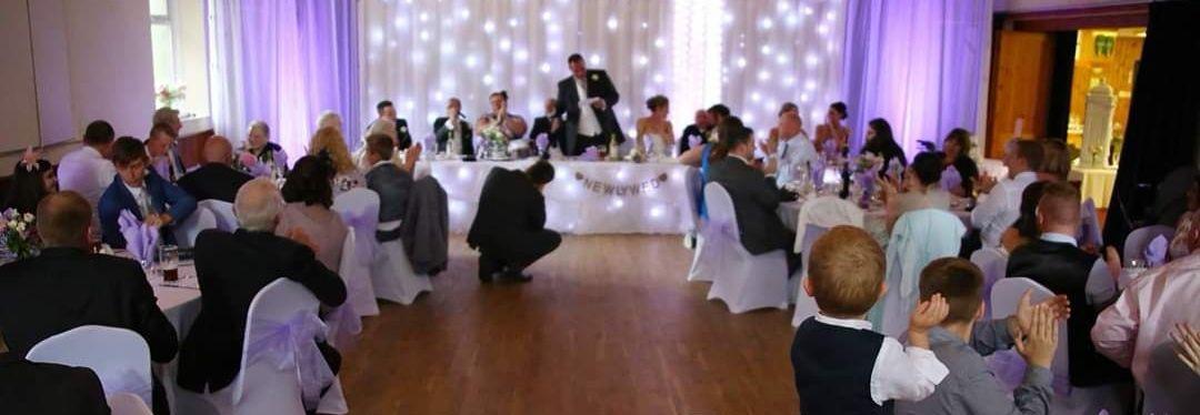 The groom makes a speech